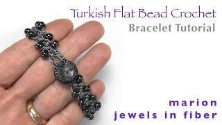 Turkish Flat Bead Crochet Bracelet Tutorial | Easy Bead Crochet Pattern