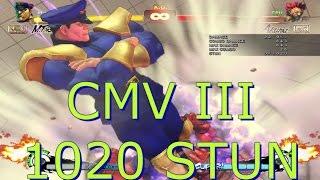USF4 Omega M.Bison Combo Video (CMV III) ( 1020 STUN 0_0 )
