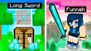 Minecraft but we have LONG Weapons!