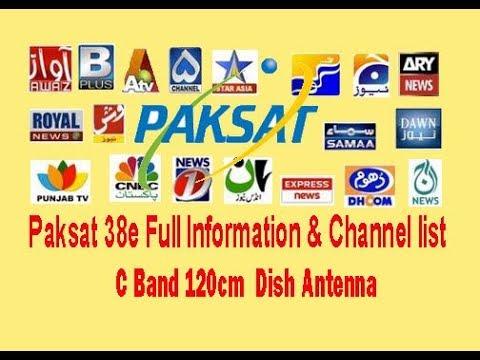 Paksat 1R 38 East Full Channel List 2018 - смотреть онлайн на Hah Life