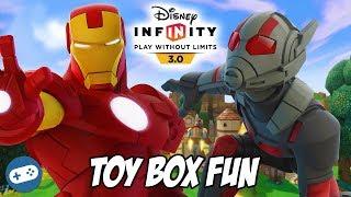 Iron Man And Ant Man Disney Infinity 3.0 Toy Box Fun Gameplay