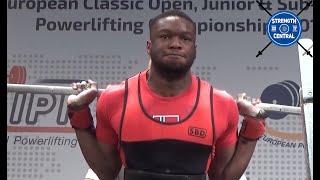 Chido Nnoli  - 1st Place 83  Jr - EPF Classic Championships 2018 - 718.5kg @ 21 yo
