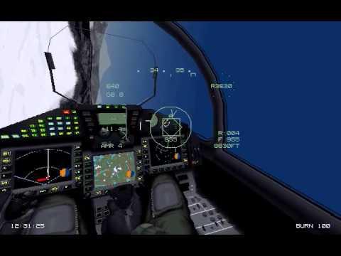 Eurofighter vs F-22 Dogfight (1995 EF2000)