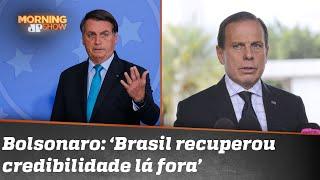 """""""Segue desinformado"""", diz Doria após nova crítica de Bolsonaro"""