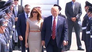 President Trump and First Lady Melania Trump arrive in London, UK  July 12, 2018  President Trump ar