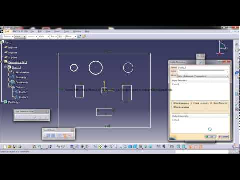 Catia V5 Tutorials|Sketch Output