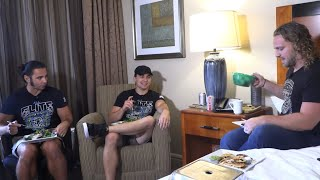 Wrestlers On The Road Ordering Room Service w/ Hangman Adam Page
