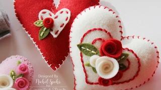 Simon Says Stamp Felt Plush Heart Valentines
