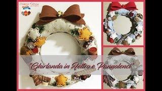 """DIY Ghirlanda In Feltro E Pannolenci """"dolciosa"""" # DIY """"Sweet"""" Felt Garland"""