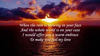 Kelly Clarkson To make you feel my love - mit lyrics