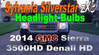 Sylvania Silverstar ZXE Headlight Bulbs 2014 GMC Sieera 3500HD Denali