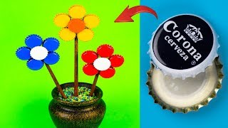 12 AWESOME IDEAS WITH BOTTLE CAP & DIY