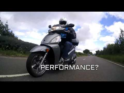SLUK   Kymco People 300 GTi GT300i road test review – Euro 4 ABS