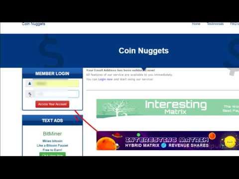 Регистрация и работа во 2 проекте Майкла Вебера Coin Nuggets