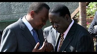 President Uhuru and Raila Odinga in secret night talks