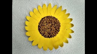 Making sunflower with paper plate & How to Make Sunflower With Paper Plate u0026 Black Tea (Easy DIY ...