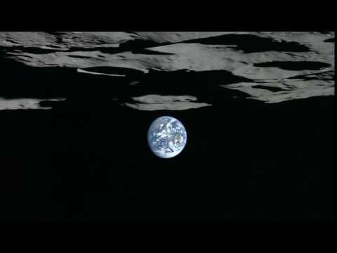 Lunar South Pole Earthset Viewed by Kaguya