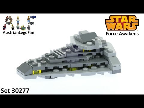 Vidéo LEGO Star Wars 30277 : First Order Star Destroyer (Polybag)