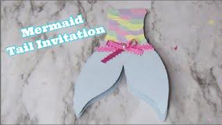 DIY Mermaid Tail Invitation