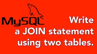 08 How to Join two tables in a SQL query
