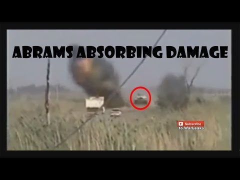 Abrams M1 tank taking and absorbing MAJOR damage compilation