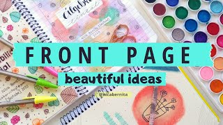FRONT PAGE DESIGN FOR  PROJECT 💖 CREATIVE JOURNAL IDEAS ✨ NOTEBOOK FRONT PAGE DECORATION IDEAS