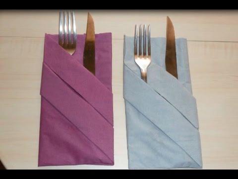 PLIER une SERVIETTE| Décorer une table | PORTE COUVERTS | Pliage Facile à Réaliser :)