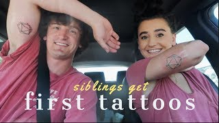 GETTING OUR FIRST TATTOOS - Matching Sibling Tattoo