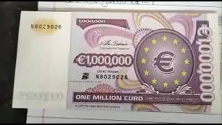 one million euro with certificate
