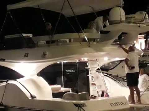 Bruno Vespa in yacht all'Isola d'Elba