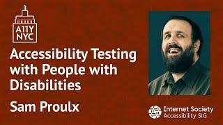 Pruebas de accesibilidad con personas con discapacidad (Inglés)