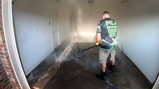 Pet Urine Cleanup Safety. Garage Sanitizing Process