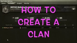 World of Tanks | How to Create a Clan