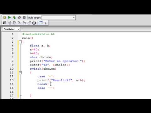 C Programming Tutorial – 35: The Switch Statement