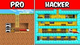 PRO vs HACKER Bunker Underground Build Battle CHALLENGE!