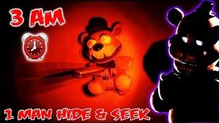 (GONE WRONG!) 3 AM ONE MAN HIDE AND SEEK CHALLENGE WITH NIGHTMARE FREDDY FAZBEAR   FREDDY APPEARS!