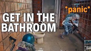 CAMP IN THE BATHROOM - PUBG Funny Moments and Rages