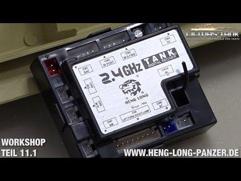 11.1 RC Panzer Workshop - Funktionen / Steckplätze / Binding Heng Long 2.4 GHz Platine 4 Generation