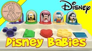 Mattel Disney Babies Poppin Pals Toy - Mickey Mouse, Pluto, Minnie, Donald Duck, Goofy