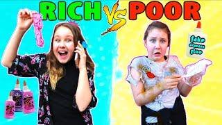 RICH VS POOR MAKING SLIME CHALLENGE!!
