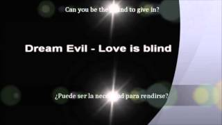 Dream Evil -  Love is blind (sub. Español)
