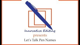 Let's Talk Pen Names