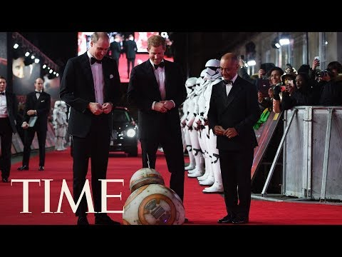 BB-8 Greets Prince William And Prince Harry At 'Star Wars: The Last Jedi' European Premiere | TIME