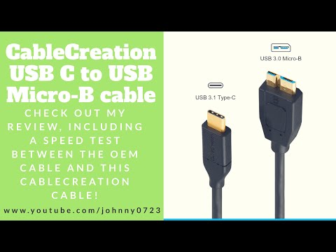 CableCreation USB C to Micro-B 3.0 (Gen2/ 10G) review and speed test vs OEM Seagate HD cable