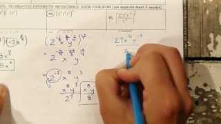 Precalulus TEST 5 2 Logarithms and Exponential Fcns 43 to 45 (simplifying exponents)