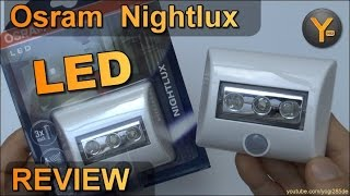 Osram Nightlux LED Lampe mit Bewegungsmelder und AAA Batterien / Akkus