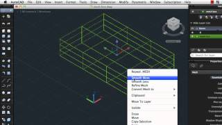 Create and Modify 3D Meshes: AutoCAD 2013 for Mac
