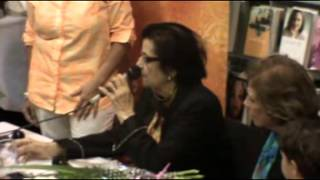 The signing of 'A Pilgrim Soul: Memoirs' by Aziza Shoukry Hussein