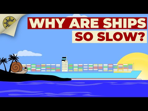 Why Are Ships Much Slower Than Other Vehicles?