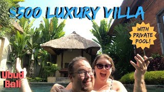 Budget Private Villa In Ubud, Bali With A Pool | Indonesia Travel Vlog